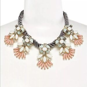 Natasha Rope Gold Multi Colored Statement Necklace